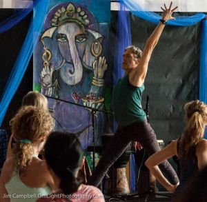 That's me in the light blue at my first Hanuman Festival workshop with Richard Freeman.  Photo by the amazingly talented Jim Campbell