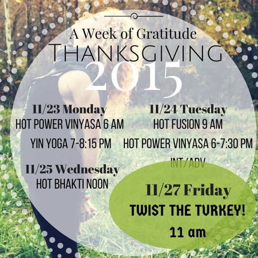 A Week Of Thanksgiving